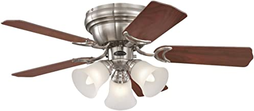 Westinghouse Lighting Contempra Ceiling Fan, Metal, E27, Brushed Nickel