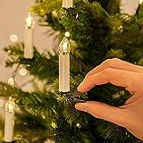 CálidoBrillante Conjunto de 10 a control remoto parpadeo del LED cónica vela candelita w / 7keys controlle clip de la boda de Navidad de la Navidad blanca cálida decoración ( Color : Warm white )