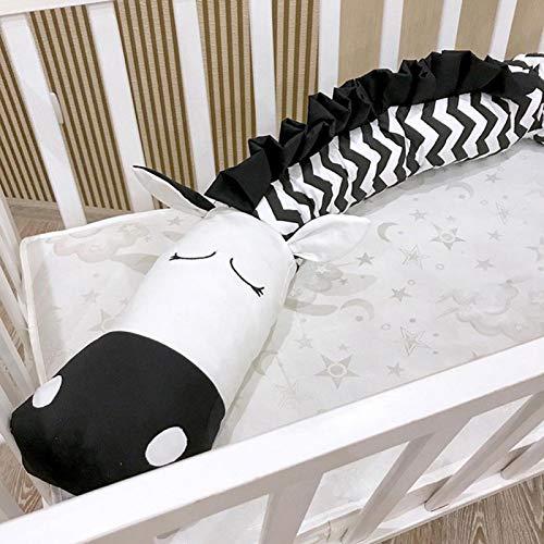Sängtillbehör Soft Crib Bumper Baby Crib Bumper Bekväm Cartoon Crib Bumper Cribs
