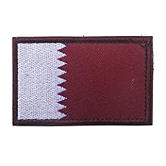 Qatar Flag Patch Size:3 inch x 2 inch Top of the Line Quality Patch Superb Highest Quality Embroidery Great for Bags,Uniforms,Hats and Jackets.