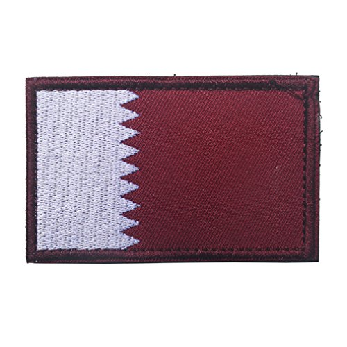 Qatar Flag Patch Embroidered Military Tactical Flag Patches