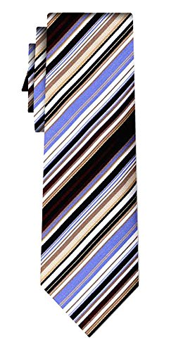 Cravate soie rayée fine stripe beige blue white