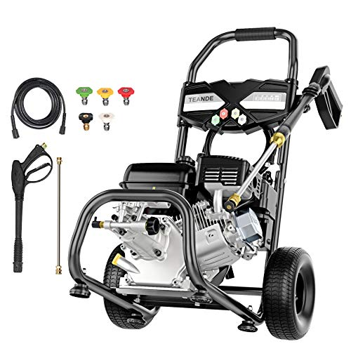 TEANDE Gas Pressure Washer,4200 PSI at 2.8 GPM,212CC Gas Powered Power Washer for Cars Fences Garden