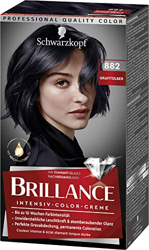Brillance Intensiv-Color-Creme Haarfarbe 882 Grafitsilber Stufe 3, 3er Pack(3 x 160 ml)