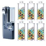 KRLCR Juego de 600 cápsulas de mentol prémium | Filtro de mentol DIY para un sabor inolvidable | Incluye caja para guardar las bolas aromáticas Click, color, talla Small