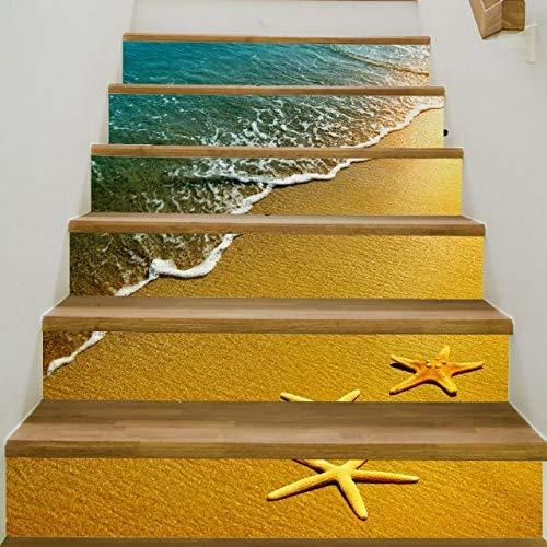 6 unids 3D Cerámica Geométrico Suelo de baldosas Pegatinas de Pared Autoadhesivas Etiquetas engomadas de la Escalera DIY para escaleras de la habitación Decoración Inicio
