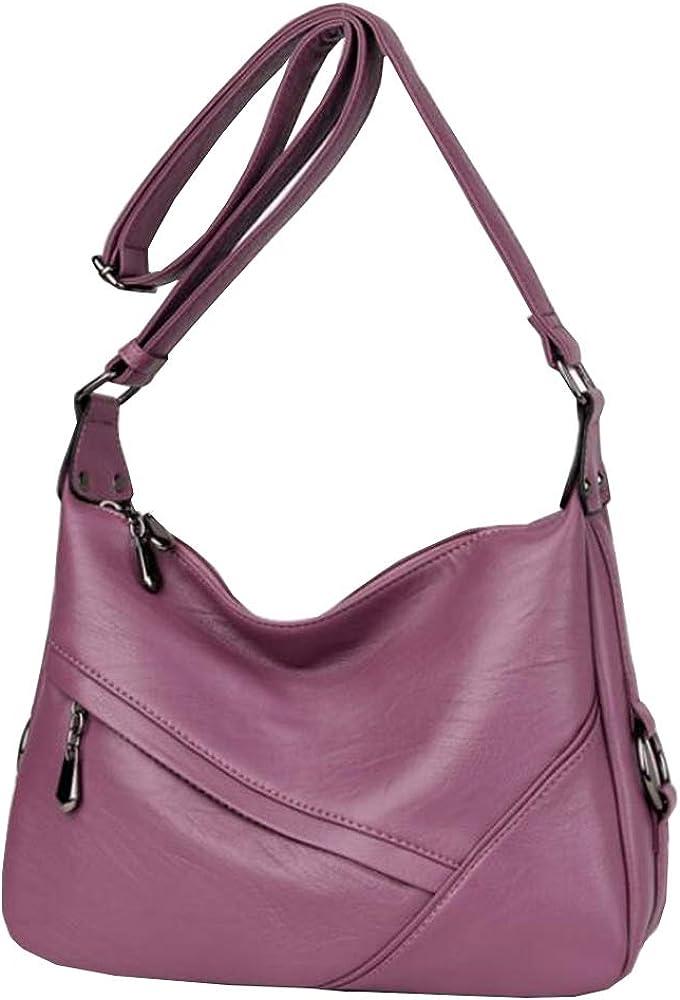 Women bag Purse Casual Hobo Shoulder Bags Soft PU Leather handbag Tote
