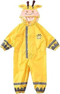 WZHZJ Hooded Kids Raincoat High Visibility Reflective Rainsuit Rainwear Breathable Raincoat for Children Boy Girl Students...