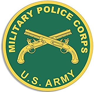 LPF USA Magnet Round US Military Police Corps Seal Magnetic Sticker (Army mp Logo)