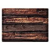 LDHHZ Alfombra de baño de espuma viscoelástica, antideslizante, absorbente, muy acogedora, 40 x 60 cm, color marrón oscuro
