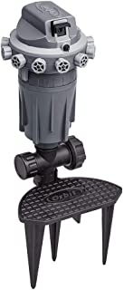 Orbit 56805 Precision Arc Gear Drive Sprinkler with Adjustable Knobs, Gray (Renewed)