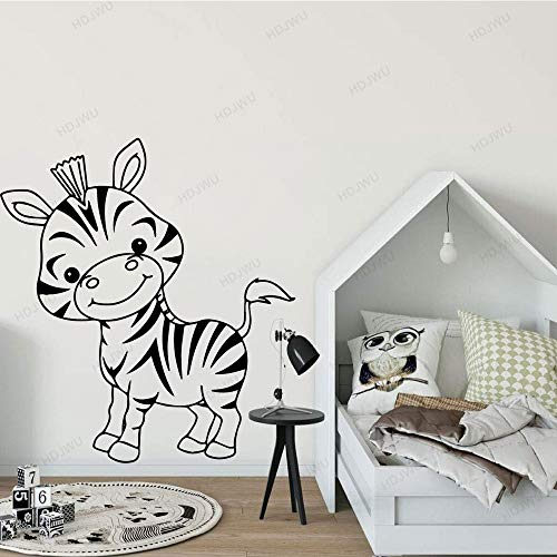 yaonuli Zebra Vinyl Aufkleber für Kinderzimmer Aufkleber Baby Schlafzimmer Wandmalerei Zebra Wandaufkleber 42X61cm