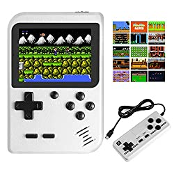 top rated JAMSWALL handheld gaming console, 400 classic FC games 2.8 inch screen 800mAh rechargeable … 2021