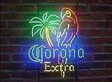 Queen Sense 17'x14' Corona Extra Parrot Neon Sign Man Cave Bar Pub Beer Handcrafted Home Wall Decor Neon Light FB02