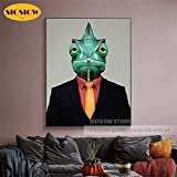 XCxCN 5D-DIY-Mr. Chameleon Full Diamond Set Resina Diamante Pintura Mosaico Bordado Animal Moderno nórdico decoración del hogar Diamante Redondo sin Marco -40x50cm