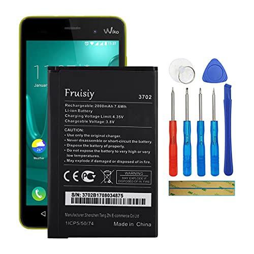 Fruisiy Wiko 3702 - Batería para Wiko Lenny 1, Lenny 2, Lenny 3 Jerry (incluye herramientas)