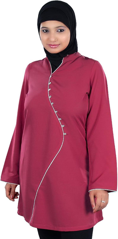 MyBatua Women's Elegant Islamic Somaya Tunic in pink Pink