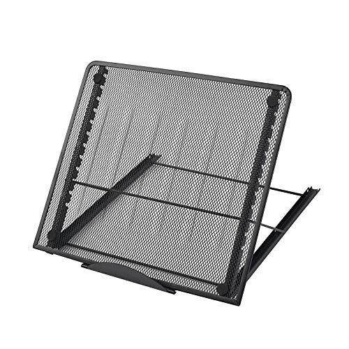 Laptop Desktop Ventilato Portatile Pieghevole, Notebook Portatile con Supporto per Laptop, Porta Notebook Portatile Regolabile, Ideale per Uso Domestico, Ufficio, Esterno, Viaggi, Scuole,