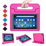 BMOUO Case for All-New Fire HD 8 2017/2018 - Light Weight Shock Proof Convertible Handle Kid-Proof Cover Kids Case for All-New Fire HD 8 Tablet (7th and 8th Generation, 2017 and 2018 Release), Rose