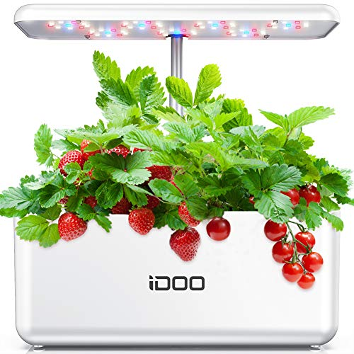 Hydroponics Growing System, Indoor Herb Garden Starter Kit with LED Grow Light, Smart Garden Planter for Home Kitchen, Automatic Timer Germination Kit, Height Adjustable (7 Pods, Seeds not Included)