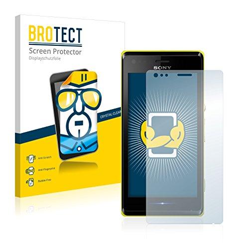BROTECT Schutzfolie kompatibel mit Sony Xperia M C1904 / C1905 (2 Stück) klare Bildschirmschutz-Folie