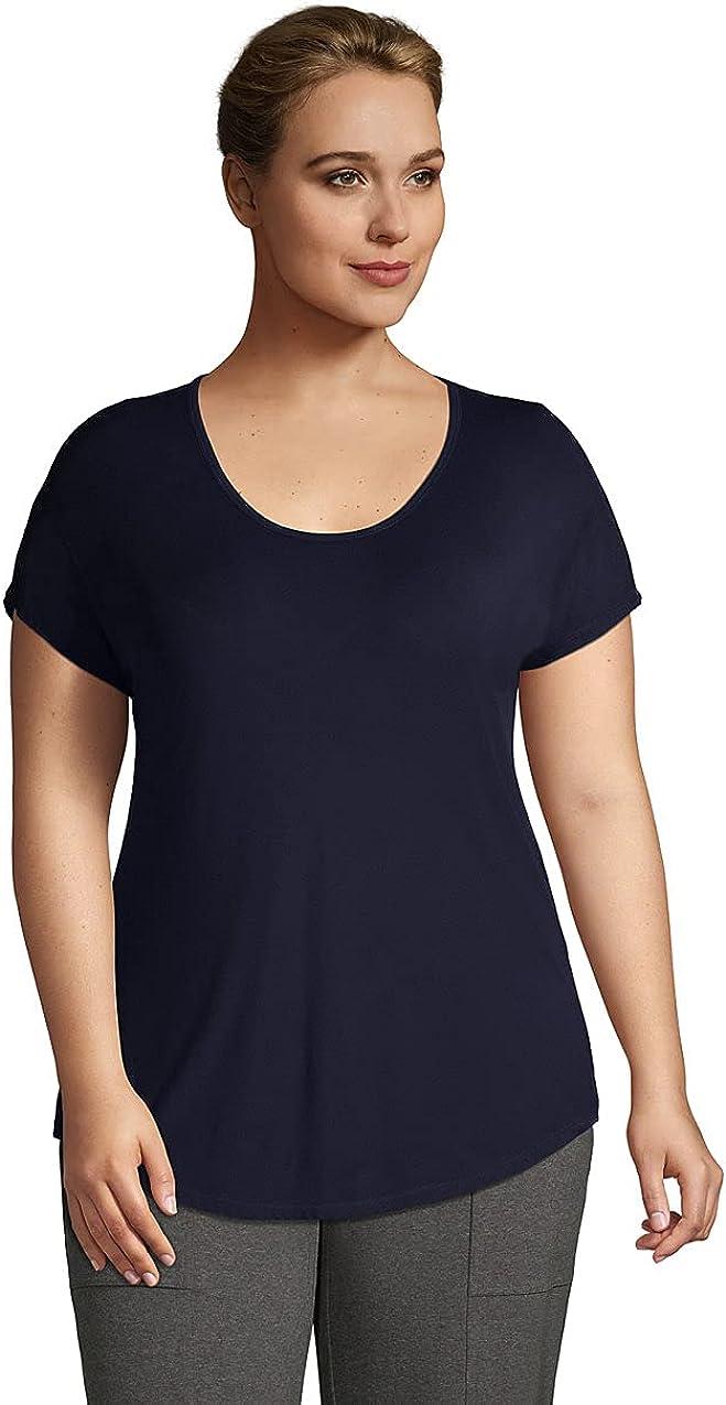 Lands' End Women's U-Neck Jersey T-Shirt