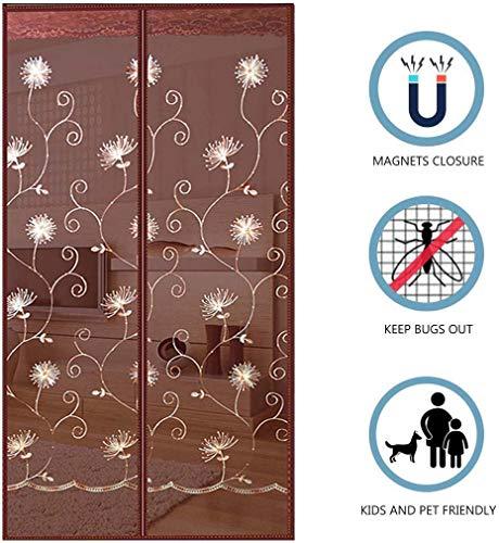 Magnetische zomerdeur, Mosquito Versterkt Handsfree Zelfafdichtend Superstille encryptie Full Frame tape Mesh Gordijn, voor schuifdeuren voor balkons Woonkamer