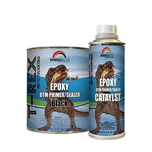 Speedokote Epoxy Fast Dry 2.1 Low voc DTM Primer & Sealer Black Quart Kit