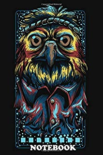 Notebook: Hipster Eagle , Journal for Writing, College Ruled Size 6