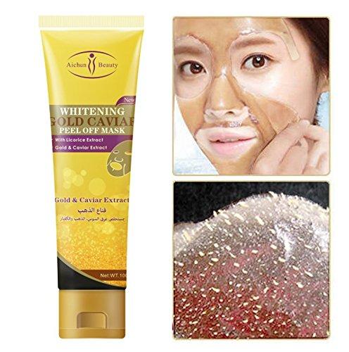 Mascarilla hidratante facial de 24 quilates, limpieza facial de los poros, mascarilla para cuidado de la piel para todos los tipos de piel.