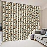 Cortinas Blackout Ventanas Opacas Termicas Aislantes para salón, Cocina habitación y Dormitorio,Punto 150x166 cm(Ancho x Alto)