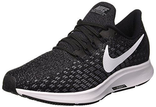 Nike Damen Air Zoom Pegasus 35 Laufschuhe, Mehrfarbig (Black/White/Gunsmoke/Oil Grey 001), 40 EU