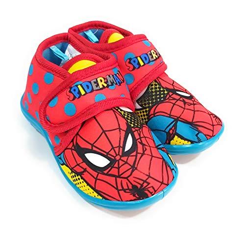 Zapatillas Spiderman de Estar por Casa - Zapatillas Marvel Spiderman Niños Pantuflas...