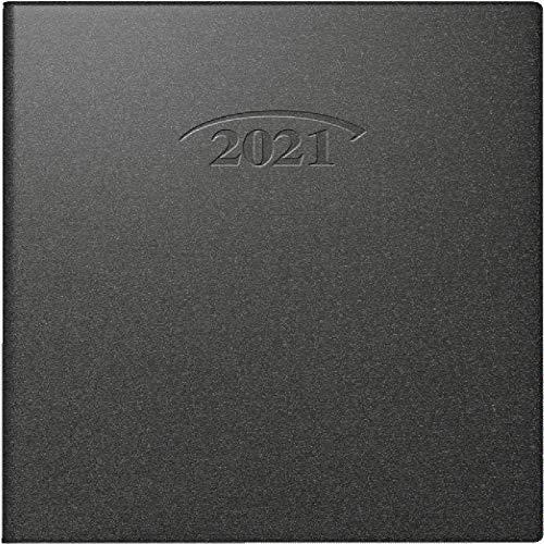 BRUNNEN 1073610901 Taschenkalender Modell 736 Artistico, 1 Seite = 1 Tag, 10 x 14 cm, Kunststoff-Einband schwarz, Kalendarium 2021