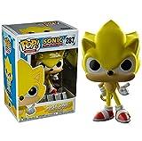 Figura De Anime De 10Cm Pop Sonic The Hedgehog Modelo Muñecas Juguete PVC Amarillo Sonic Figura De Acción Niños Modelo Juguetes Regalos