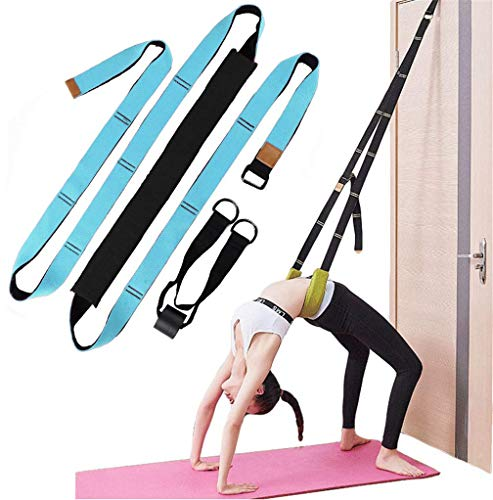 Long Adjustable Leg Stretcher Yoga Strap- Easy Install on Door,Dance Lower Waist Training, Back Bend Assist Trainer-to Improve Back and Waist Flexibility for Yoga, Ballet, Cheerleading