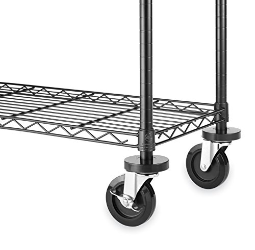 Whitmor Wheels for Whitmor Supreme Shelving Units - Heavy Duty Supports Up To 500 Pounds (Set of 4)