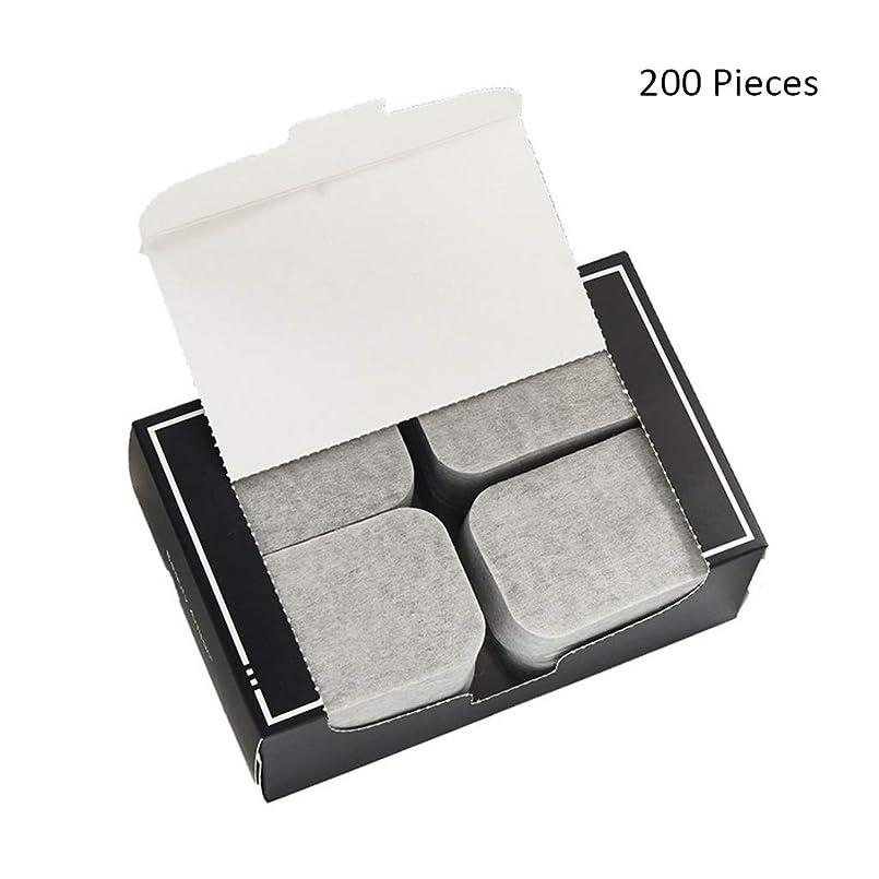 プラカード歴史兵隊200ピース/パックフェイスメイクアップリムーバー竹炭ポータブルコットンパッドソフトクレンジングメイクピュア両面リムーバーコットン (Color : Gray, サイズ : 7*5cm)
