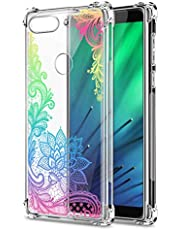Oihxse Cristal Compatible con Honor 9X/9X Pro Funda Transparente TPU Silicona Estuche Airbag Esquinas Anti-Choque Anti Rasguños Diseño Rosa Flower Caso (Flores B7)