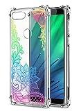 Oihxse Cristal Compatible con Google Pixel 4 Funda Transparente TPU Silicona Estuche Airbag Esquinas Anti-Choque Anti Rasguños Diseño Rosa Flower Caso (Flores B7)