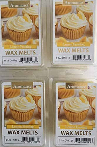 Aromance Lemon Frosting Wax Melts, Pack of 4