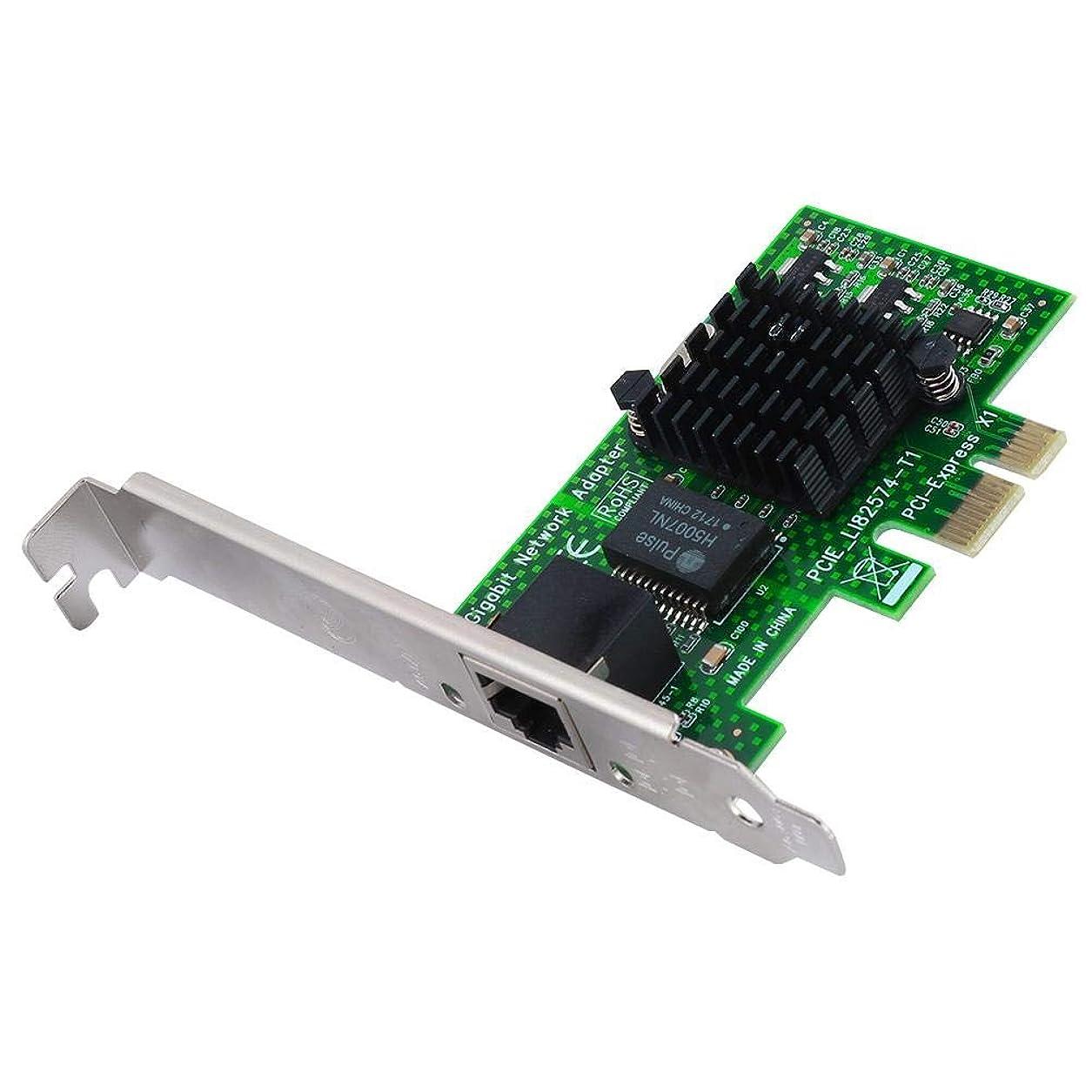 大いにボトルネック固体ASHATA デスクトップネットワークカード PCI-E ギガビットイーサネットネットワークカード Intelチップ用オリジナル採用 10/100/1000Mbpsネットワークカード ホーム/オフィス/サーバー用大型ヒートシンク