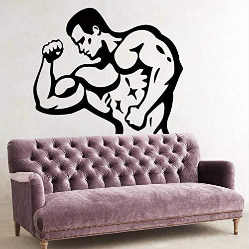 Lglays Calcomanía de vinilo para decoración de gimnasio, fitness, diseño de gimnasio, 58 x 69 cm