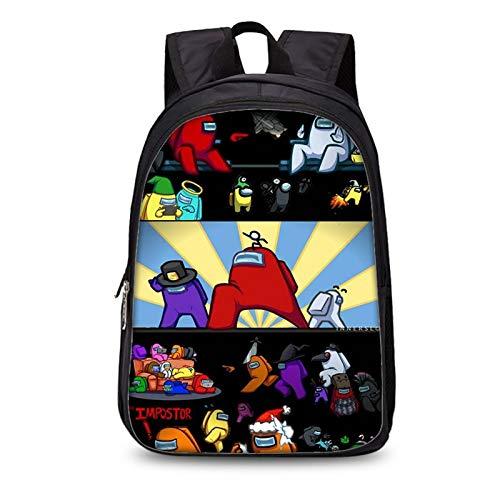 Among-Us School Bag, Among Us Kids Backpack, Durable, Comfortable, Teenager School Bag, with Headphone Jack., A-u-18 (Black) - DG0-45-S5D2