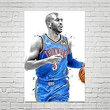 Chris Paul Poster, Chris Paul Art Print, Oklahoma City Thunder Poster, Basketball Wall Art, Basketball Decor, NBA Poster, Sports Art Print, Man Cave Decor
