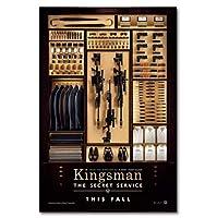 キングスマンシークレットサービス映画ウォールアートキャンバス絵画ポスターリビングルーム家の装飾壁の装飾(60X80Cm)-24x32インチフレームなし
