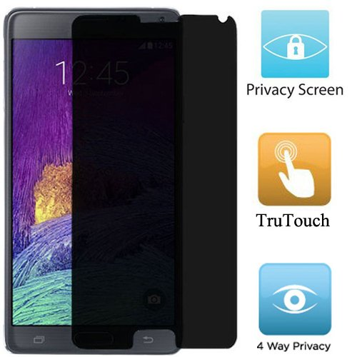 Premium Anti-Spy Privacy LCD Shield Screen Protector Cover Film for Samsung Galaxy Note 4 (For All Carriers)
