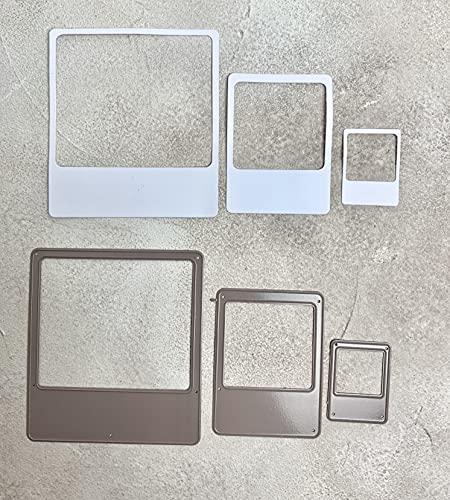 Stanzschablone/ Cutting dies Sofortbildkamera Foto Rahmen für Fotos Scrapbbook & co. , bis 8,5x9,5cm, 3-tlg