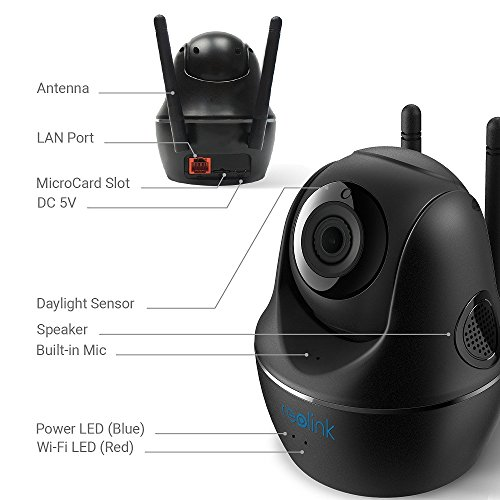 REOLINK 4MP HD Pan/Tilt 2.4/5Ghz Dual Band WiFi Indoor Wireless Home Security Camera(C1 Pro)