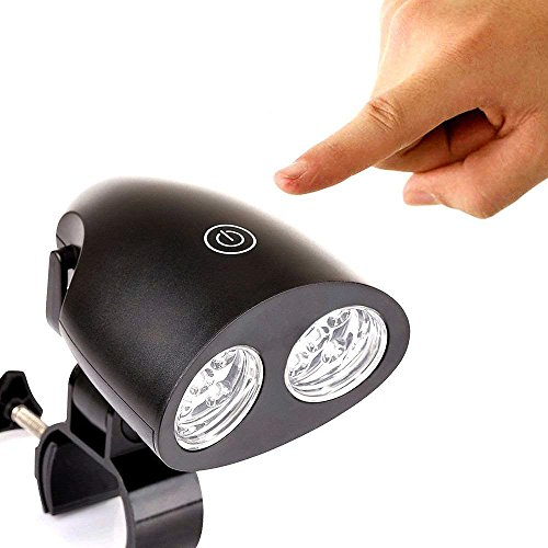 LED BBQ Grill Lampe Wasserdichte von ZSZT 10 super helle LED-Leuchten 120 Lumen 360-Grad-Drehung Bestes LED BBQ-Licht für jedes Gas / Kohle / Elektrogrill Inklusive Aufbewahrungstasche (Toch Switch)